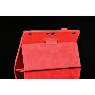 Tasche für Lenovo Tab 3 10 Business A10-70F TB3-X70 (F/L) PLUS 10.1 Zoll Schutz Hülle Flip Tablet Cover Case (Rot)