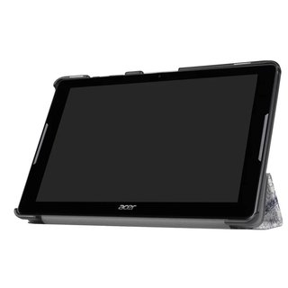 Schutzhülle für Acer Iconia Tab One 10 B3-A30 A3-A40 10.1 Zoll Case Bookstyle Cover Hülle (Eifelturm)