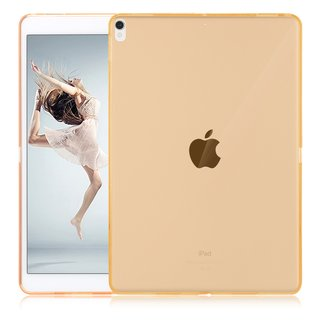 Silikoncover für Apple iPad 2017 9.7 Zoll Cover Gummihülle Flexibles TPU Hülle (Gold) + GRATIS Stylus Touch Pen