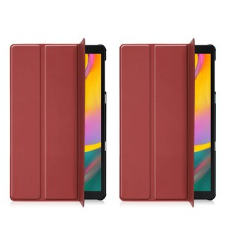 Cover für Samsung Galaxy Tab A 10.1 SM-T510 10.1 Zoll Tablethülle Schlank mit Standfunktion Weinrot