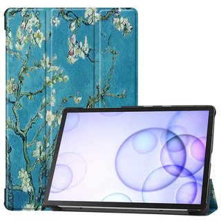 2in1 Tablet Set für Samsung Galaxy Tab S6 10.5 SM-T860 SM-T865 mit Cover Auto Sleep/Wake + Schutzfolie Hülle Smart Case Hartglas